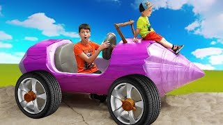 Max and Nikita Magic adventures ride on Power wheels Family fun for kids