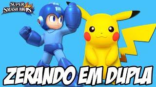 Super Smash Bros 4 - Zerando em Dupla Pikachu e Megaman