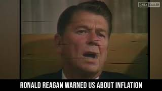 Ronald Reagan Warned Us About Inflation