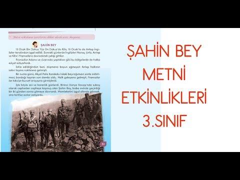 Şahin Bey Metni Etkinlikleri 3. Sınıf Türkçe Ders Kitabı