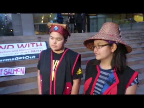 Molina Dawson and Karissa Glendale at Vancouver Court House with APTN