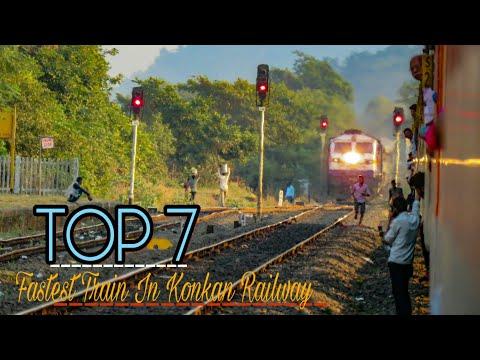 TOP 7 FASTEST TRAIN IN KONKAN RAILWAY! RAJDHANI-DURANTO-TEJAS