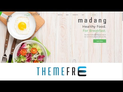 MADANG Healthy, Food, Delivery, Nutrition, Cooking Guidance, Culinary Wordpress Theme
