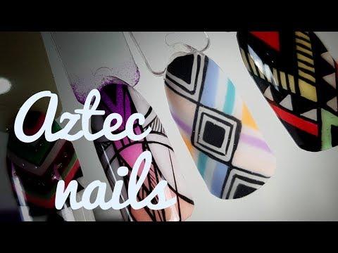 💅💅 Aztec Nails 💅💅 :: Azteckie zdobienie #3 :: Nailart by Natalia
