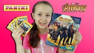 Мстители: Война бесконечности Наклейки и Альбом Panini Распаковка и Обзор