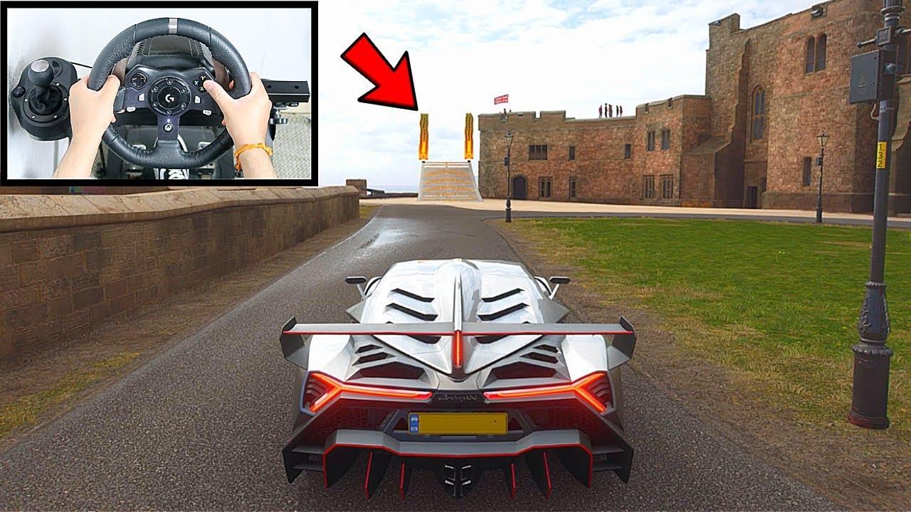Forza Horizon 4 Lamborghini Veneno (Steering Wheel + Paddle Shifter) Gameplay