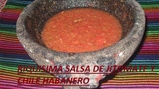 Rica Salsa De Jitomate Y Chile Habanero ( Los Angeles Cocinan )