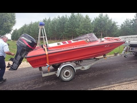 Mustang 14 Speedboat >> Mustang 14 Power Boat Ride At Kupiskio Marios Youtube