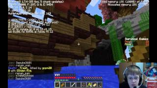 Minecraft Survival Games: Game 6 & 7 - Facecam + Narration Overlay