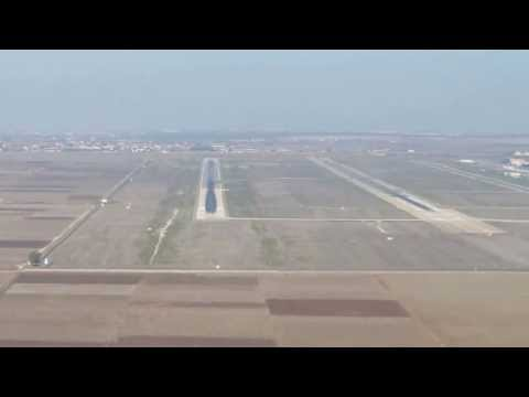 COCKPIT VIEW OF FINAL APPROACH AND LANDING AT CASABLANCA AIRPORT RUNWAY 35L