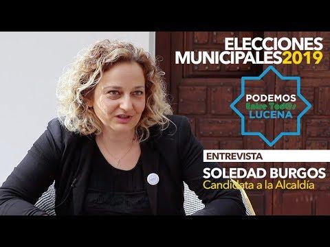 ELECCIONES MUNICIPALES LUCENA 2019: Entrevista a Soledad Burgos (Podemos Entre tod@s))