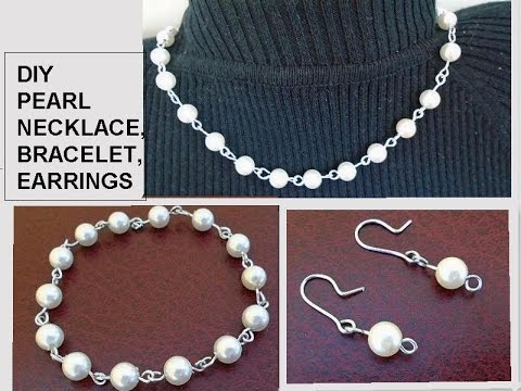 diy-pearl-bracelet,-necklace,-earrings,-gift-idea,-easy,-inexpensive-jewelry-making
