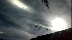 2 Helicopter Fly By - Glendale, AZ  Spring 2014