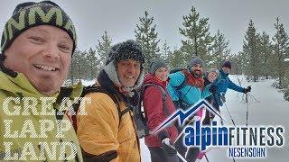 Schneeschuhwanderung auf den Larsberg 560m in Arvidsjaur, Schwedisch Lappland