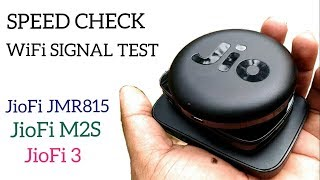 JioFi JMR815 - JioFi M2S - JioFi 3 Speed Check and WiFi Signal check