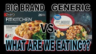 Stouffer's vs. Great Value | BIG Brand vs. Generic TV Dinner | WHAT ARE WE EATING??| The Wolfe Pit