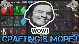 CRAFTING ICE DRAGON AND MORE ! (Roblox Murder Mystery 2) (Funny Moments!)