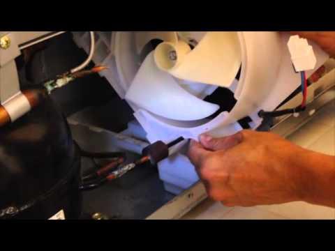 Samsung refrigerator condenser fan replacement aka noisy for Samsung refrigerator condenser fan motor