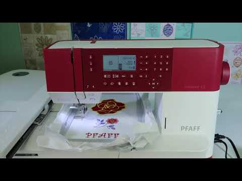 Pfaff Creative 1 5 64 Embroidery Basting In The Hoop Youtube