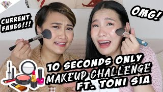 VLOGMAS DAY 7 | 10 SECOND MAKEUP CHALLENGE USING OUR HOLY GRAIL PRODUCTS FT. TONI SIA + GIVEAWAY