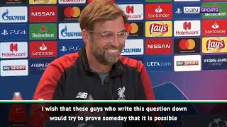 Klopp hits out at pundits from Manchester United