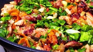 Мясо с овощами за пол часа