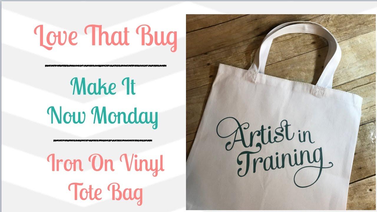 Cricut Explore Iron On Vinyl Tote Bag Youtube