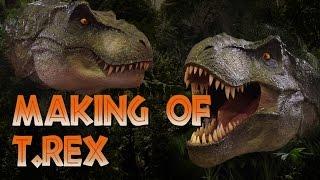 jurassic park t rex bust 1 1 scale replica making of