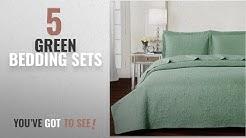Top 10 Green Bedding Sets [2018]: Mellanni Bedspread Coverlet Set Olive-Green - BEST QUALITY