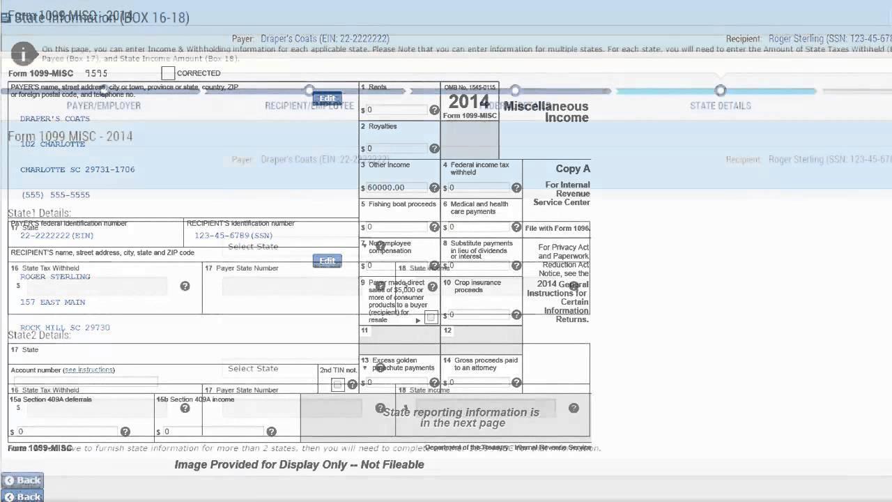E Filing Irs Form 1099 Expresstaxfilings Youtube
