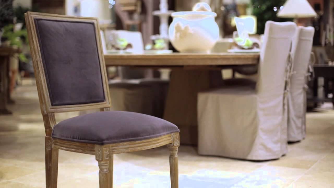 & Arhaus | Furniture | The Margot u0026 Adele Dining Chairs - YouTube