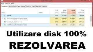 REZOLVARE DISK USAGE 100% (utilizare disk 100%)