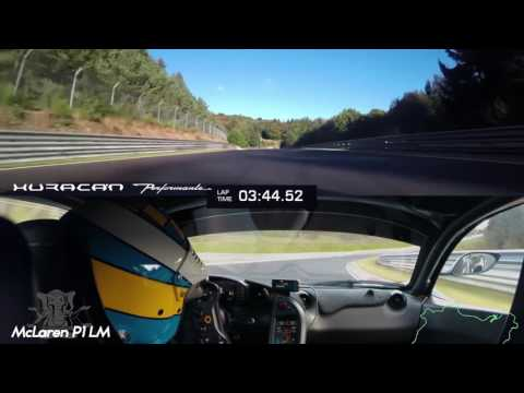 McLaren P1 LM VS Lamborghini Huracán Performante Nürburgring