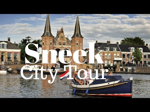 Sneek, Friesland, The Netherlands (city center on a misty day) walking and cycling GoPro