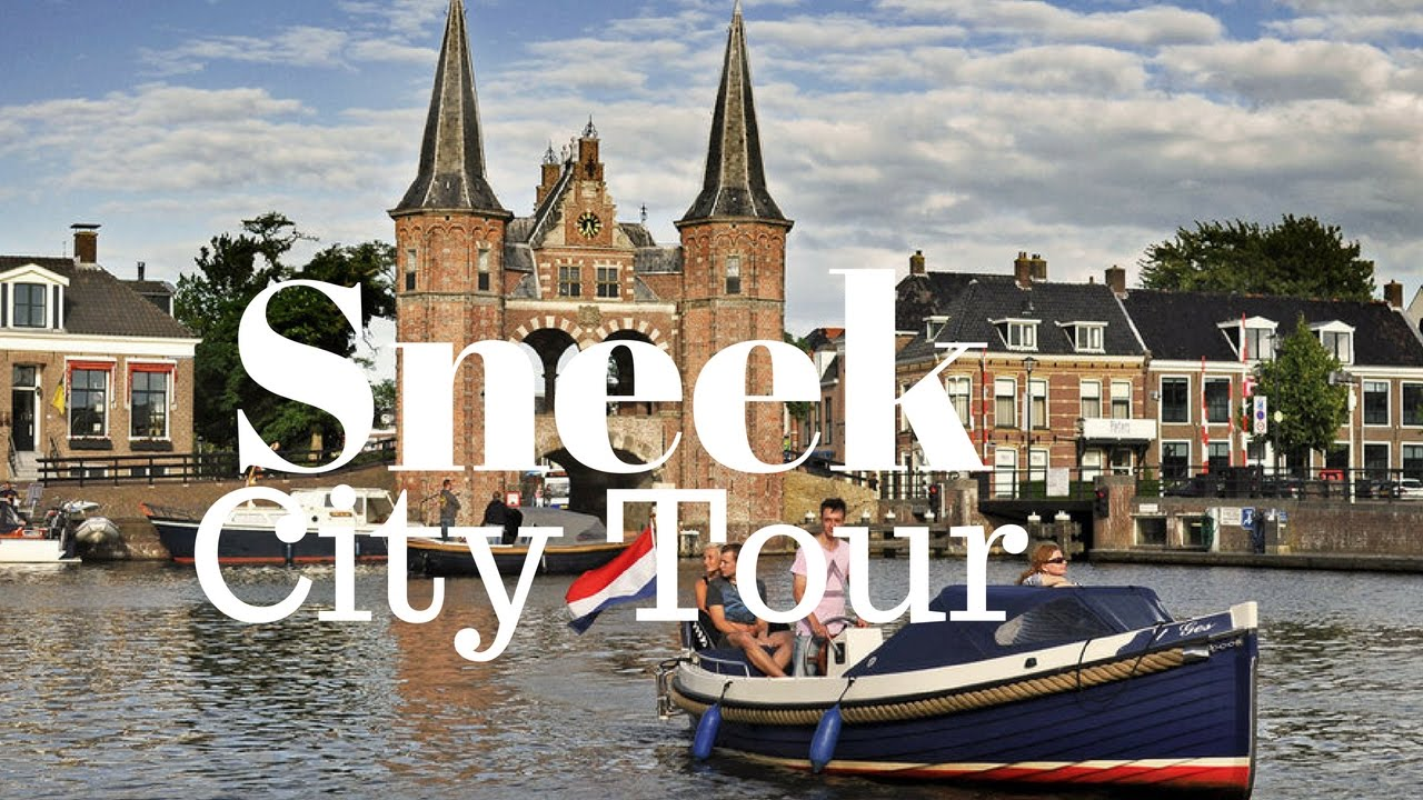 Sneek Friesland The Netherlands city center on