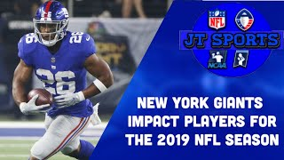 New York Giants Impact Players For The 2019 NFL Season | NFL