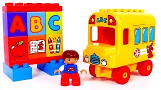 Learn Colors with Building Blocks Bus Playset for Children and Yippee Toys