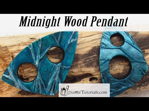 Polymer clay jewelry texture midnight wood polymer clay pendant tutorial aloadofball Image collections