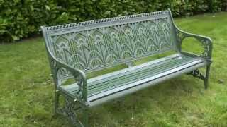 Antique Coalbrookdale Water Plant Garden Bench