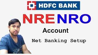 How to setup net banking login in NRE HDFC bank account