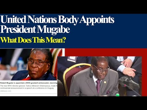 UNITED NATIONS BODY APPOINTS MUGABE, Goodwill Ambasador, WHAT DOES THIS MEAN