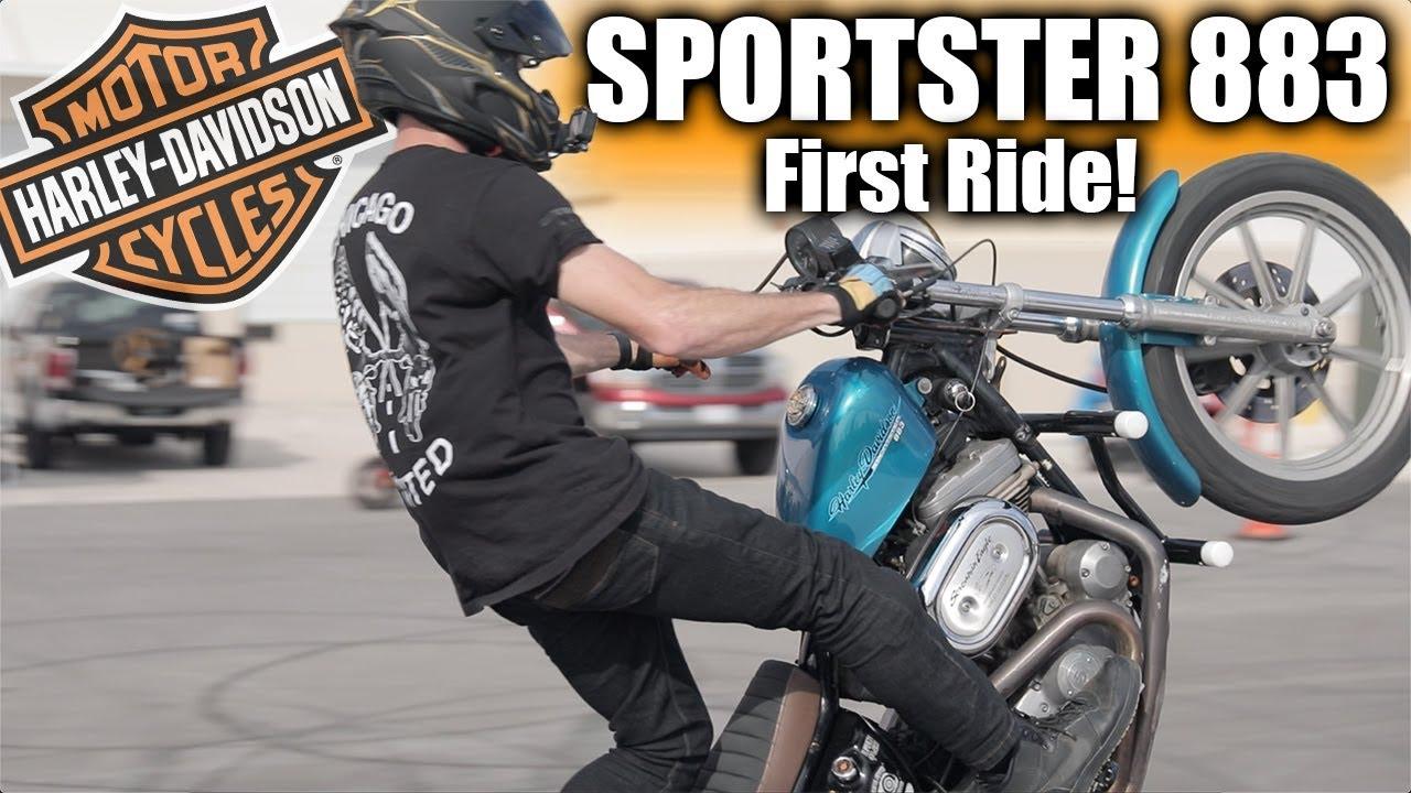 Sportster 883 First Ride – Is It A WEAK Cruiser?