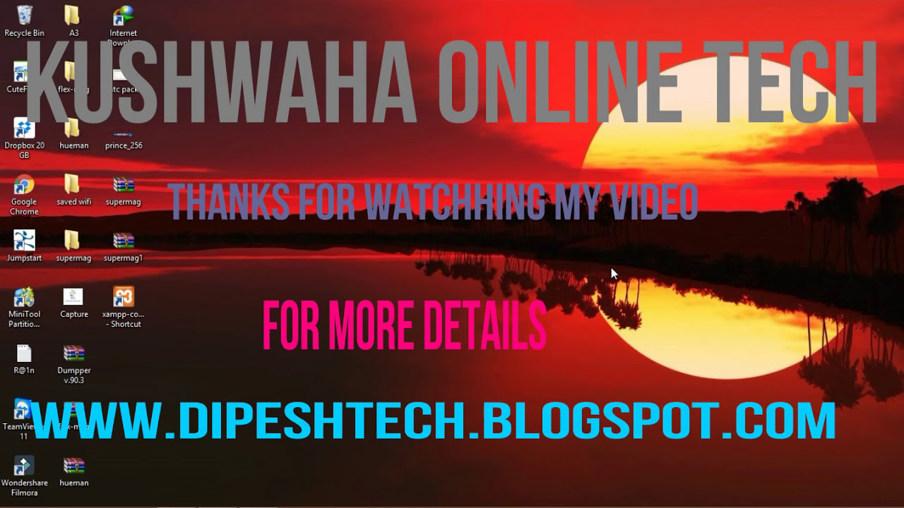 How To Connect Wifi In Laptop Without Password 2017  Kushwaha Online Tech  03:27 HD