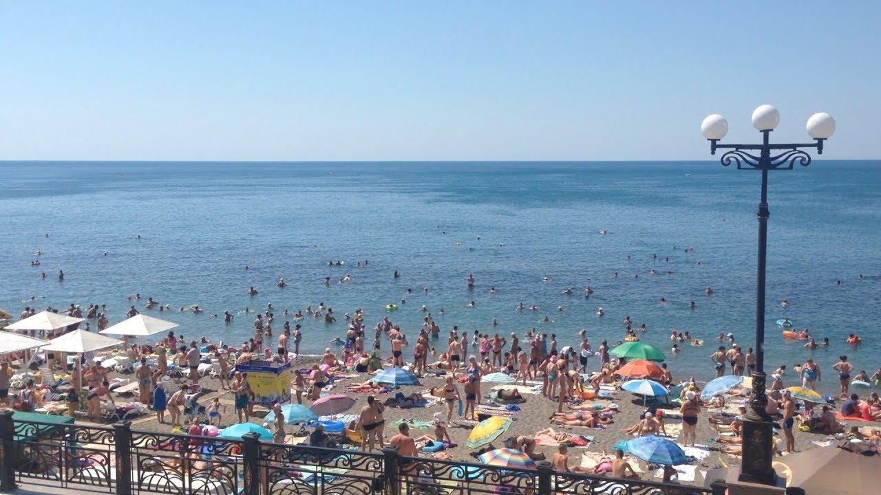 видео пляжей в судаке