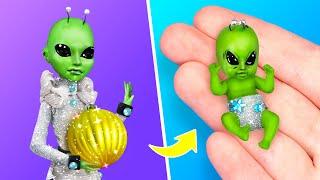 Фото 10 лайфхаков и поделок для Барби инопланетянки и малыша