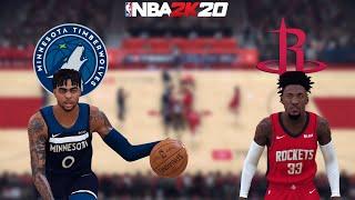 NBA 2K20 - Minnesota Timberwolves (D-LO!) vs. Houston Rockets - Full Gameplay (Updated Rosters)