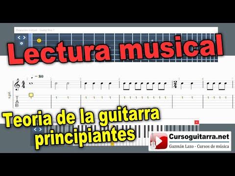 Teoria de la guitarra principiantes. Lectura musical