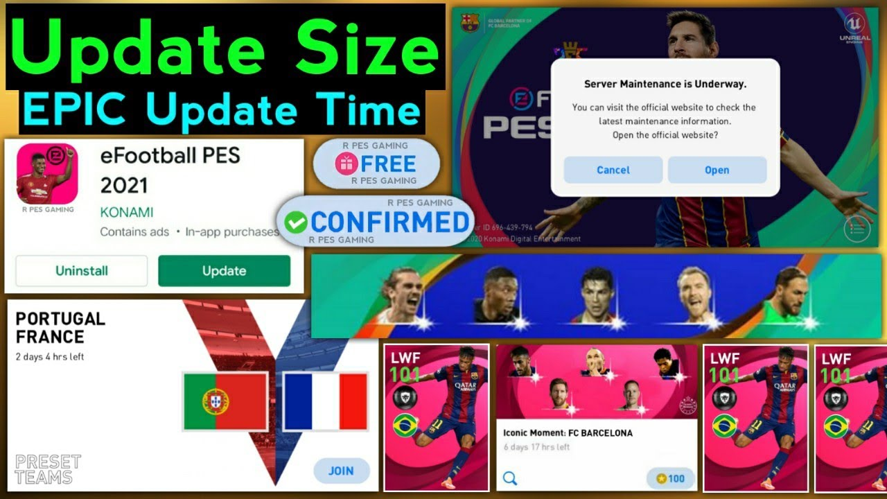 What's Coming Today New Update In Pes,Today's Maintenance Ending Time 24 June | Free Rewards - Pes21