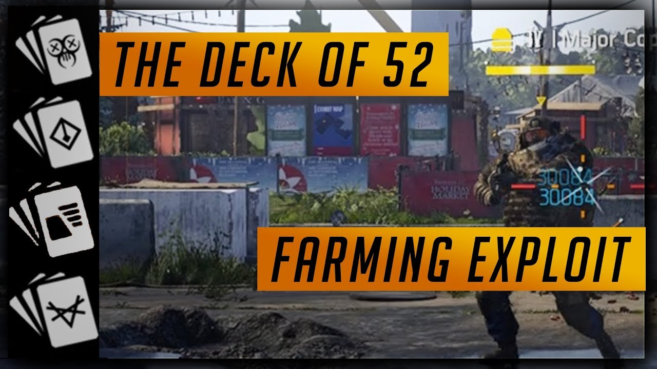 The Division 2 Named Boss Farming - Deck of 52 - Fastest Way to Complete  One Suit (Suits You, Sir)