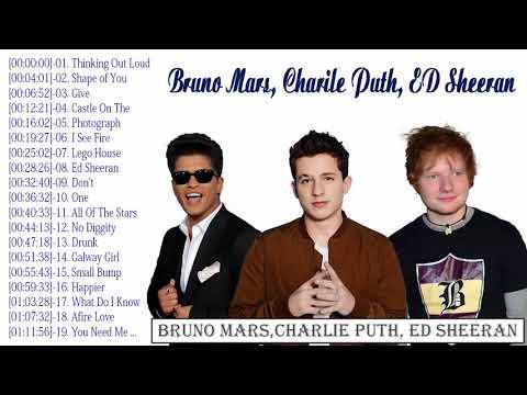 BRUNO MARS, CHARLIE PUTH, ED SHEERAN   New Hits 2018   Top New Hit Songs 2018